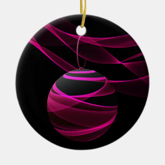 Pink Ribbon Celebration Ceramic Ornament