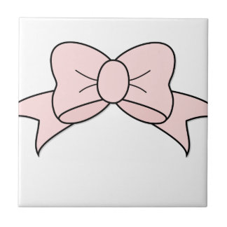 Pink Ribbon Ceramic Tile