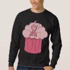 Pink Ribbon Cupcake Breast Cancer Sweatshirt