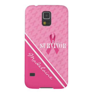 Pink Ribbon Custom Breast Cancer Survivor Galaxy S5 Cases