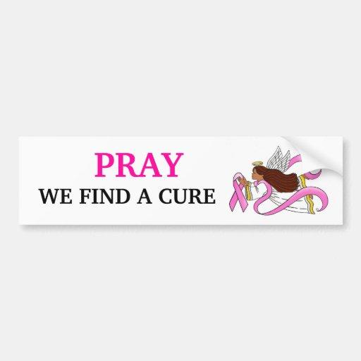 """Pink Ribbon"" Ethnic Awareness Angel Bumper Stickers"