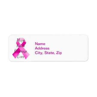 Pink Ribbon Faith Address Labels