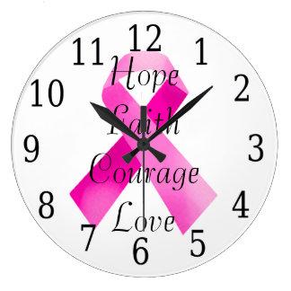 Pink Ribbon Faith Clock