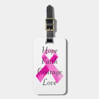 Pink Ribbon Faith Luggage Tag