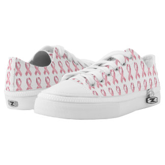 Pink Ribbon Fight Cancer Zipz Low Top Shoes