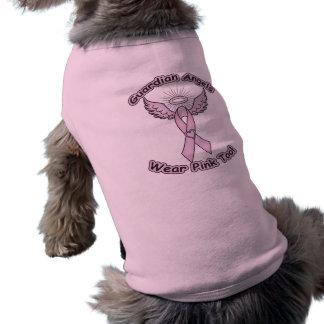 Pink Ribbon Guardian Angel Sleeveless Dog Shirt
