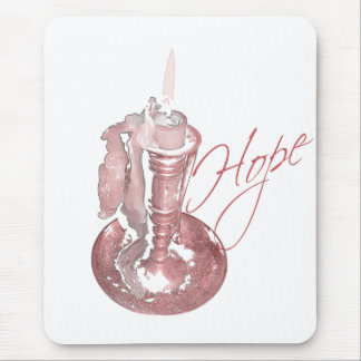 Pink Ribbon - Hope Candle Mouse Pad