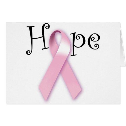 Pink Ribbon Hope Card