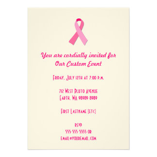 Pink Ribbon Personalized Announcement