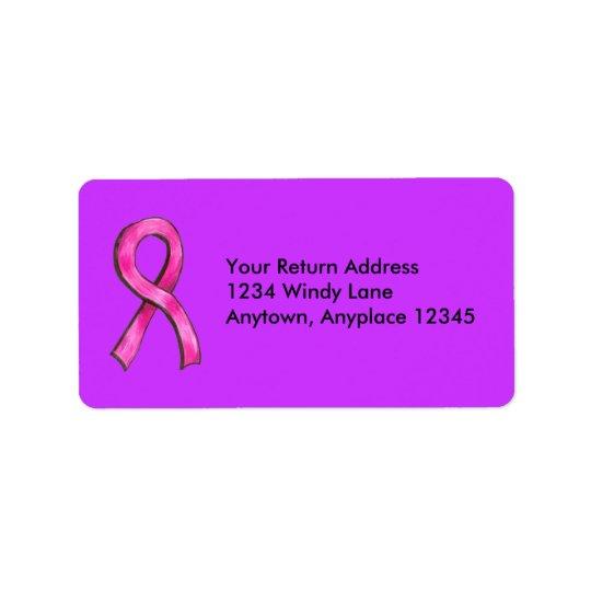 Pink Ribbon Label