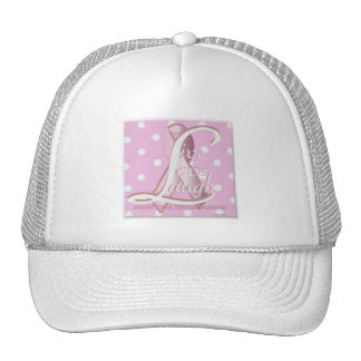 Pink Ribbon Live Love Laugh Cap-Cust Hats