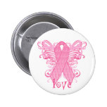 Pink Ribbon Love Buttons