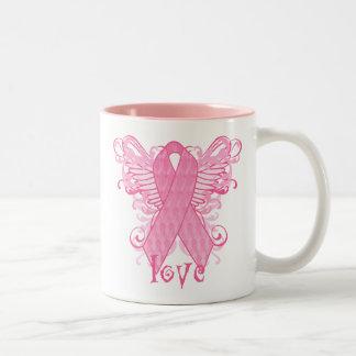 Pink Ribbon Love Mugs