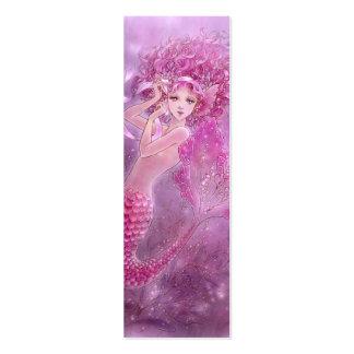 Pink Ribbon Mermaid Bookmark Business Card