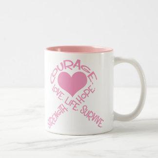 Pink Ribbon of Words Mug