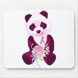 Pink Ribbon Panda Bear Mouse Pad