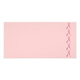 Pink Ribbon Personalized Photo Card