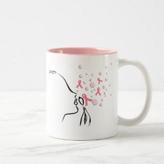 Pink Ribbon Set Me Free Mug