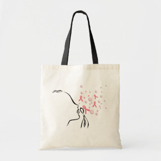 Pink Ribbon Set Me Free Budget Tote Bag