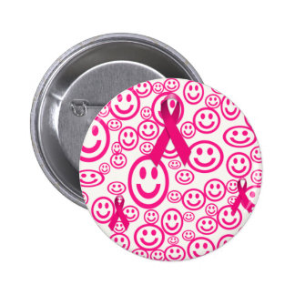 Pink Ribbon Smiles That Help Pinback Buttons