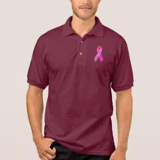 Pink Ribbon Sparkle apparel Polo Shirt