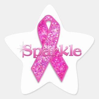 Pink Ribbon Sparkle gifts Sticker