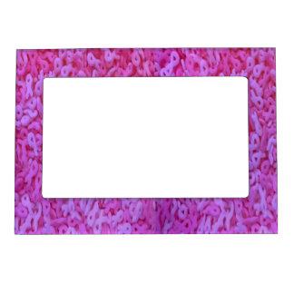 Pink Ribbon Sprinkle Picture Frame Magnet