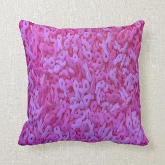 Pink Ribbon Sprinkle Pillow