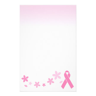 Pink Ribbon Personalized Stationery