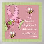 Pink Ribbon Sunny Hopeful Day Custom Print