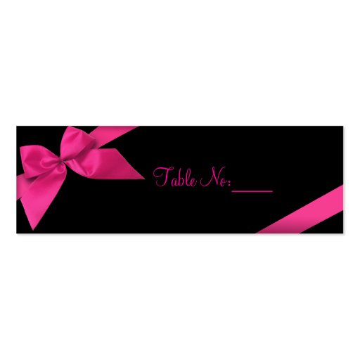 Pink Ribbon Table Place Custom Card Business Card Templates