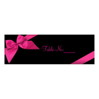 Pink Ribbon Table Place Custom Card Business Cards