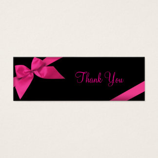 Pink Ribbon Thank You Card