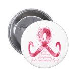 Pink Ribbon Thank You Pinback Buttons