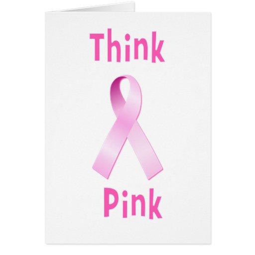 Pink Ribbon - Thnk Pink Cards