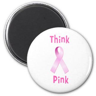 Pink Ribbon - Thnk Pink Magnet
