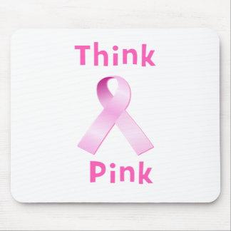 Pink Ribbon - Thnk Pink Mousepad