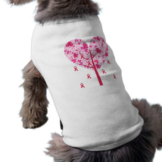 Pink Ribbon Tree - Customize Sleeveless Dog Shirt