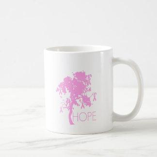 Pink Ribbon Tree of Hope Basic White Mug