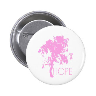 Pink Ribbon Tree of Hope Button