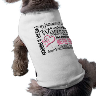 Pink Ribbon Tribute Collage Breast Cancer Pet Tee