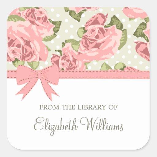 Pink Ribbon Vintage Roses Sticker
