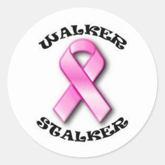 Pink Ribbon Walker Stalker Stickers