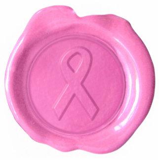 Pink Ribbon Wax Seal Diecut Magnet Cut Out