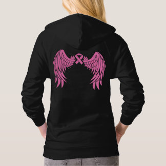 Pink Ribbon Wings Breast Cancer Awareness Hoodie