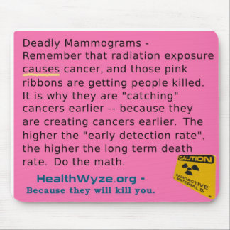 Pink Ribbons and Mammograms Kill Mouse Pad