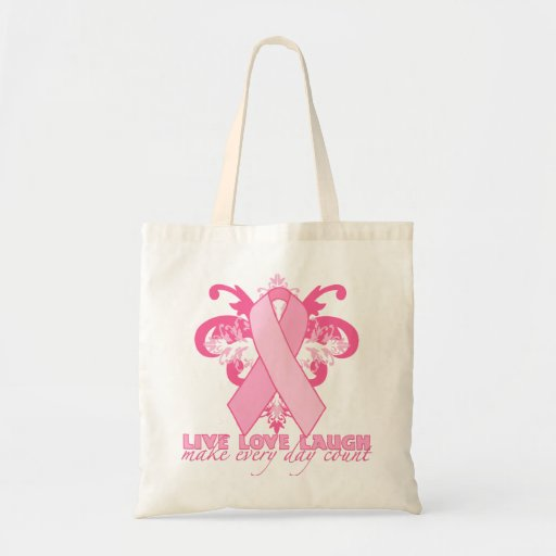Pink Ribbons Every Day Tote Bags