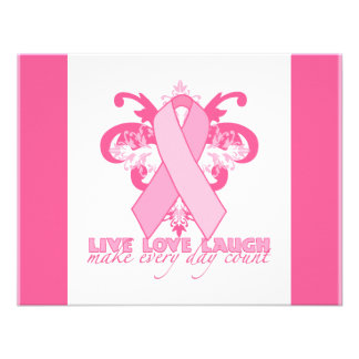 Pink Ribbons Every Day Personalized Invite