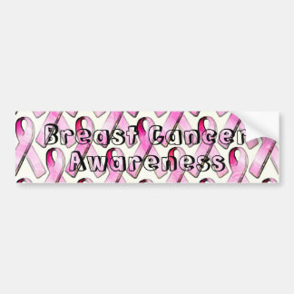 PINK RIBBONS PATTERN BUMPER STICKER