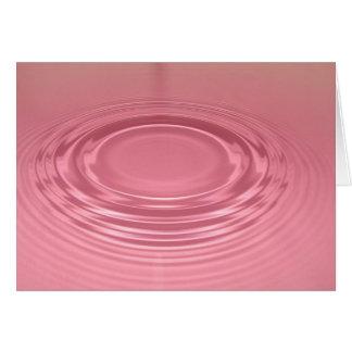 Pink ripple greeting card